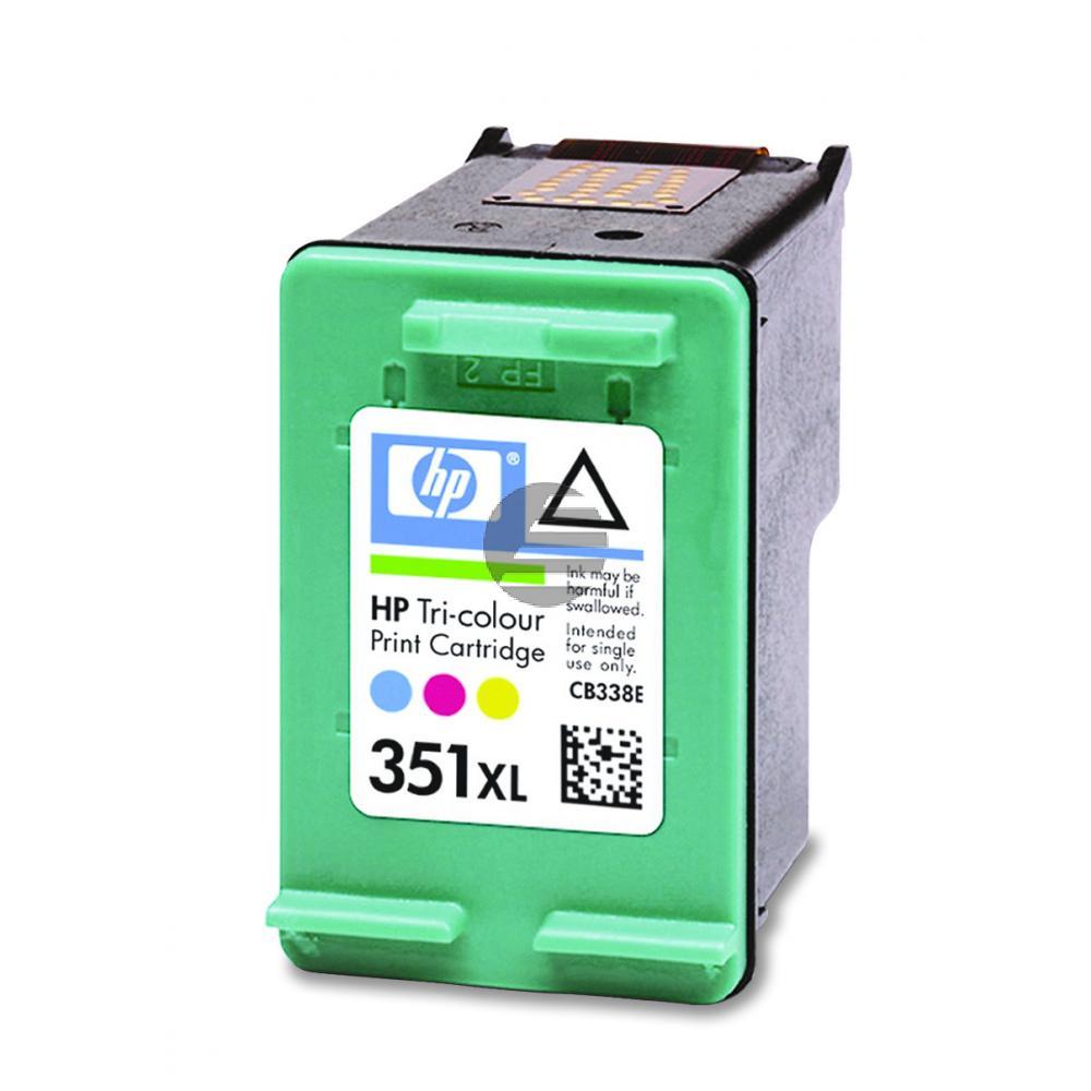 HP Tintenpatrone cyan/gelb/magenta HC (CB338EE, 351XL)