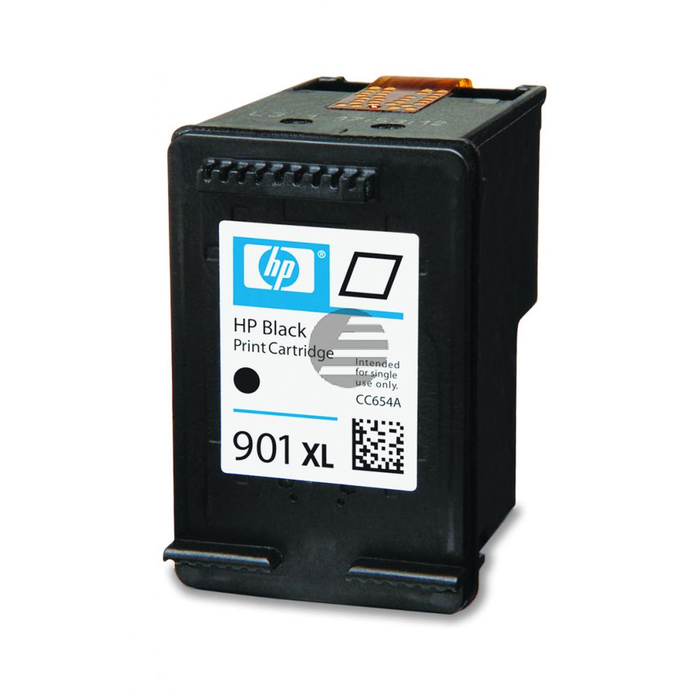 HP Tintenpatrone schwarz HC (CC654AE, 901XL)