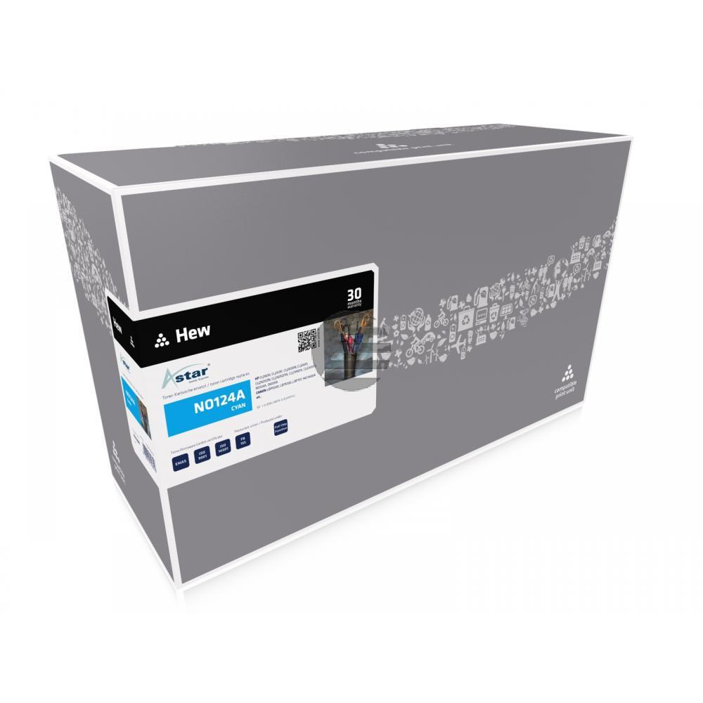 Astar Toner-Kartusche cyan (AS14001) ersetzt Q6001A / 124A