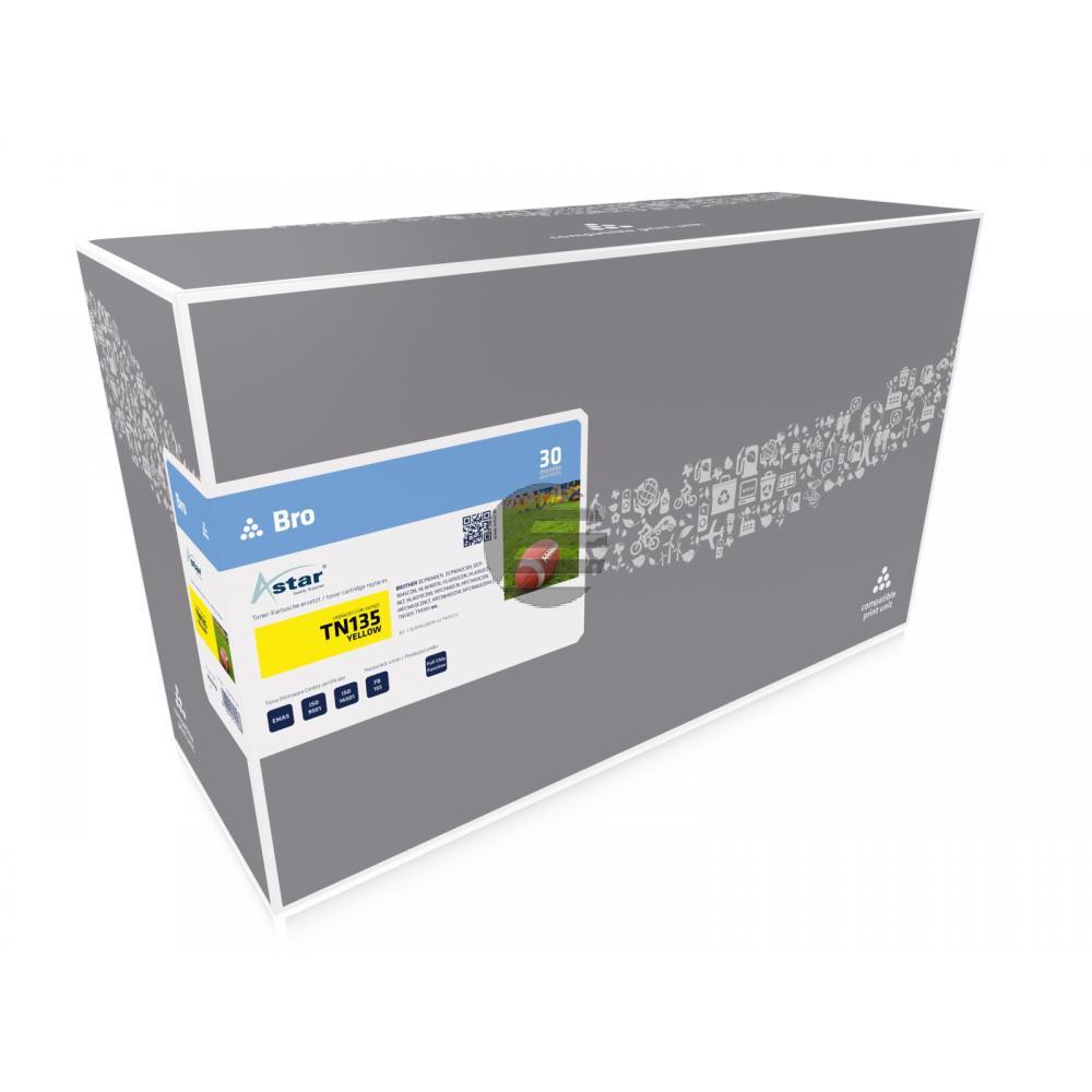 Astar Toner-Kit gelb HC (AS13135) ersetzt TN-135Y / 007R97033