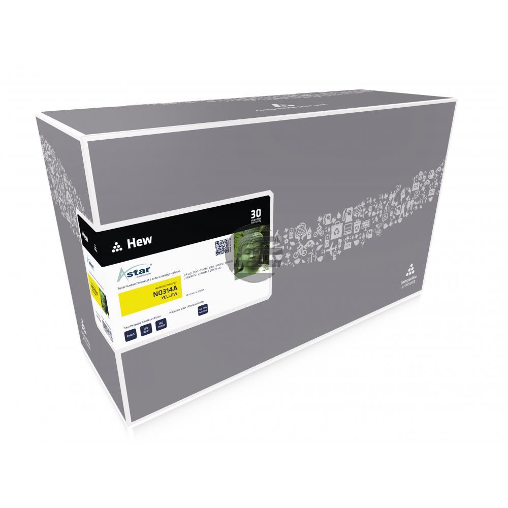 Astar Toner-Kartusche gelb (AS13562) ersetzt Q7562A / 314A