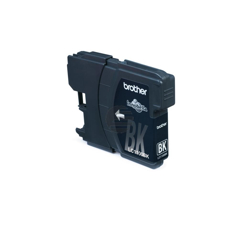 Brother Tintenpatrone 2x schwarz 2-er Pack (LC-1100BKBP2DR)