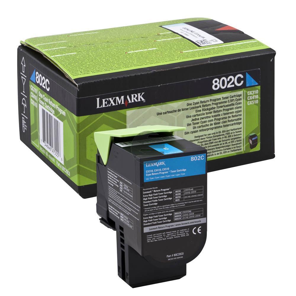 Lexmark Toner-Kit Return cyan (80C20C0, 802C)