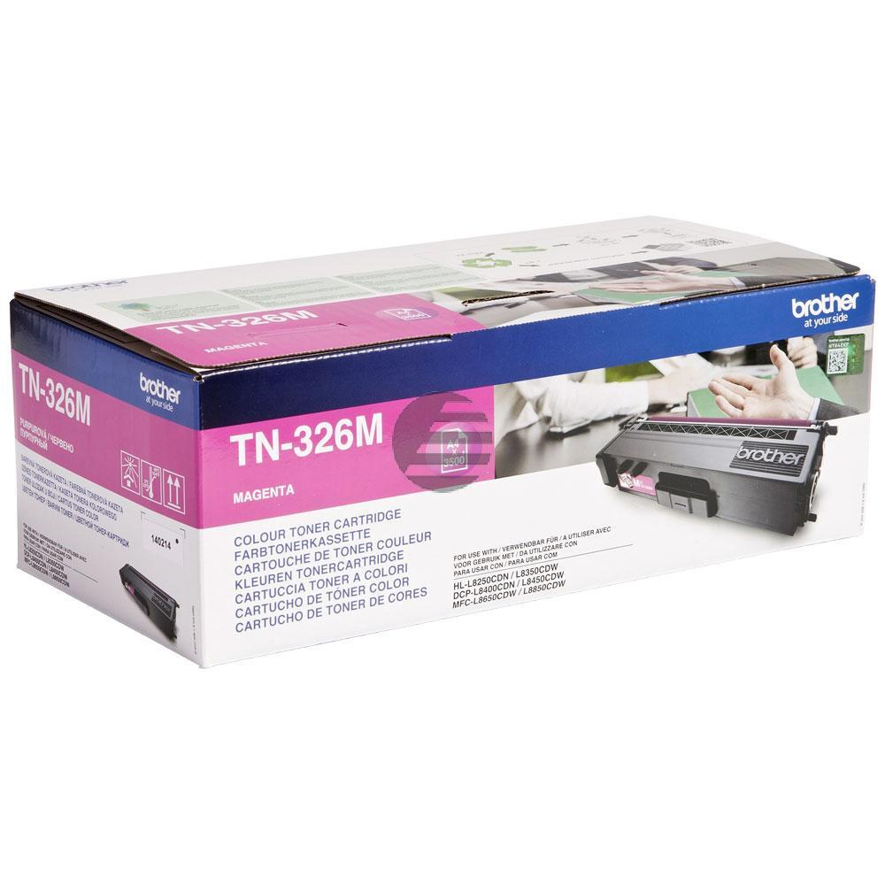 Brother Toner-Kartusche magenta HC (TN-326M)