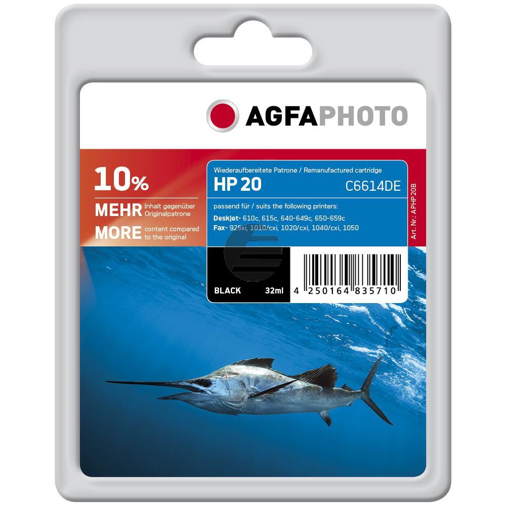 Agfaphoto Tintendruckkopf schwarz HC (APHP20B) ersetzt C6614DE / 20