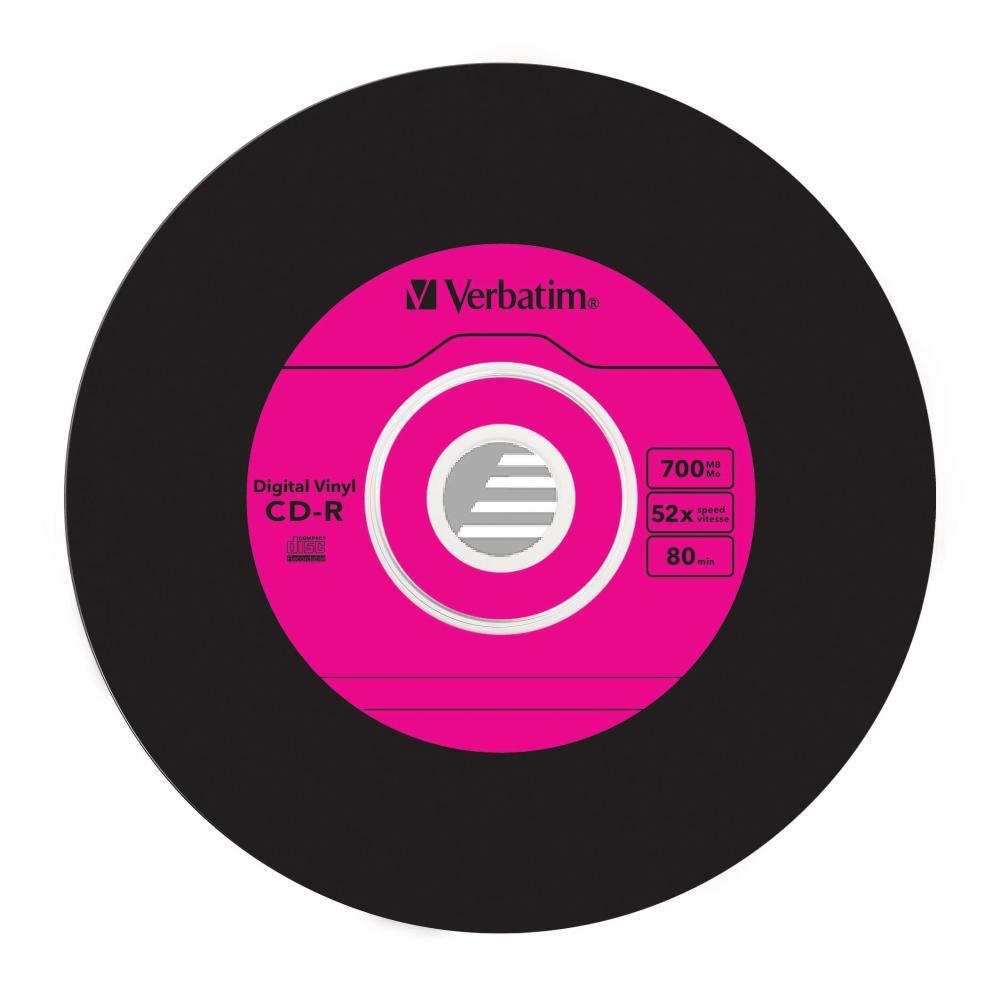 VERBATIM CDR80 700MB 52x (10) SC 43426 Slim Case Vinyloberflaeche