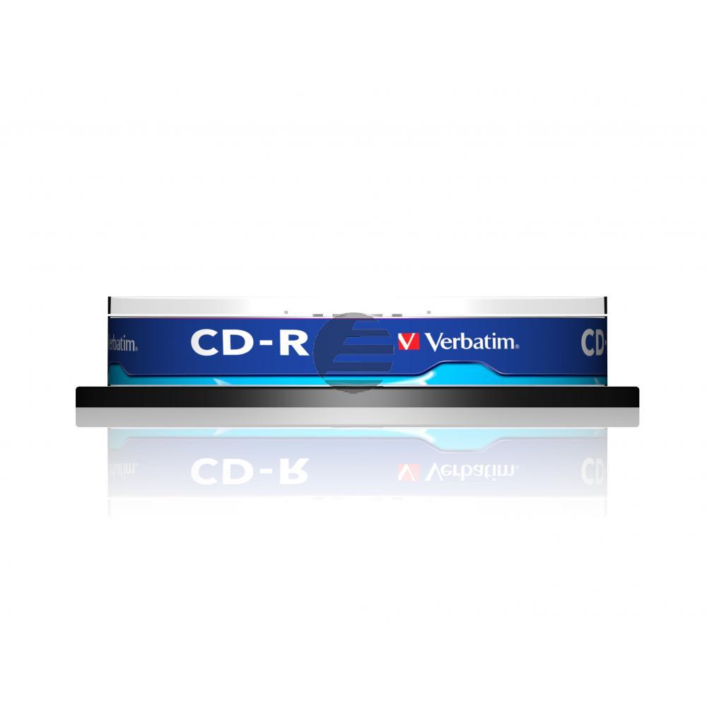 VERBATIM CDR80 700MB 52x (10) SP 43437 Spindel extra Schutz