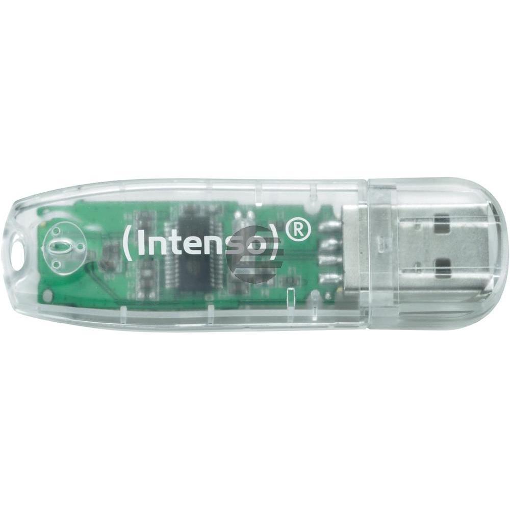 INTENSO USB STICK 2.0 32GB TRANSPARENT 3502480 Rainbow Line