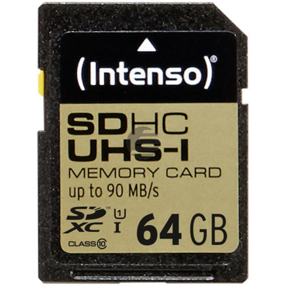 INTENSO SDHC SPEICHERKARTE UHS-I 64GB 3431490 Klasse 10