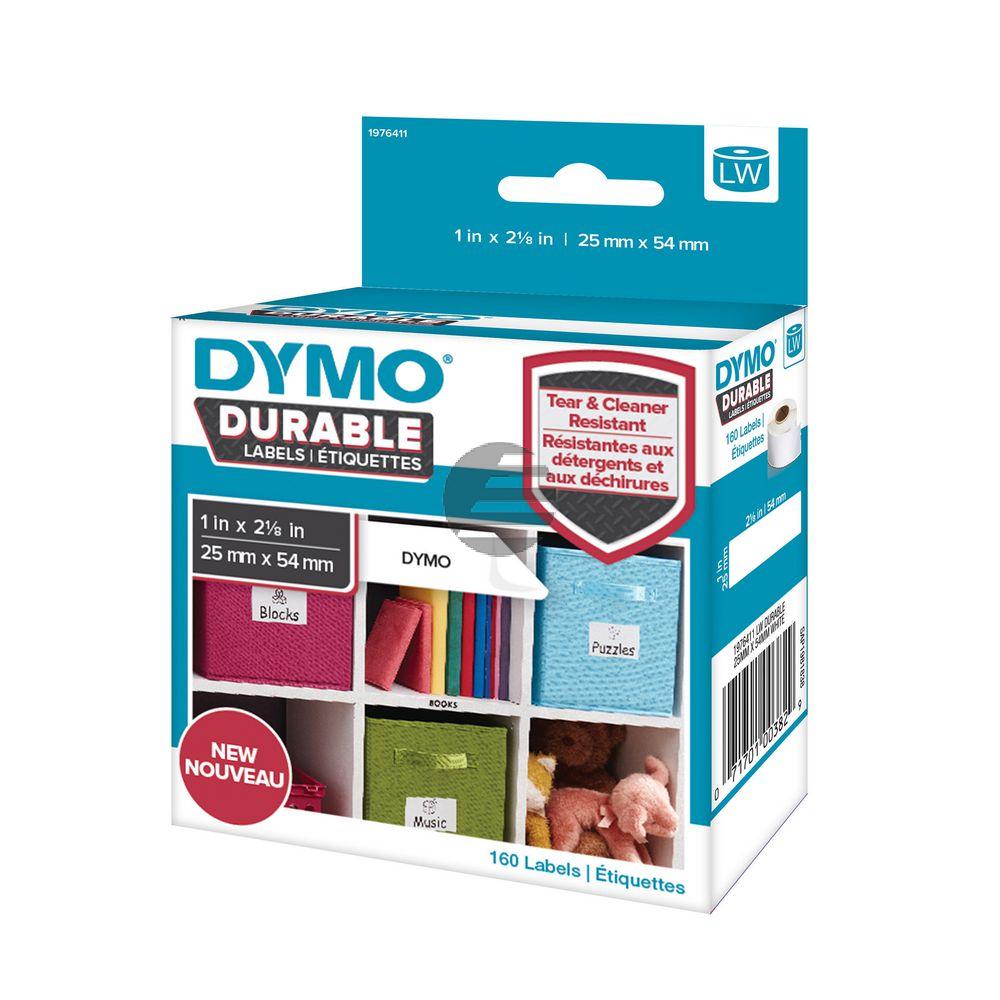 1976411 DYMO 25x54mm WEISS KUNSTSTOFF 1Rl/160Stk LW Adress-Etiketten permanent