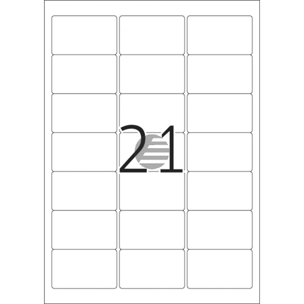 Herma Adressetiketten A4 weiß 63,5 x 38,1 mm ablösbar Papier Inh.525