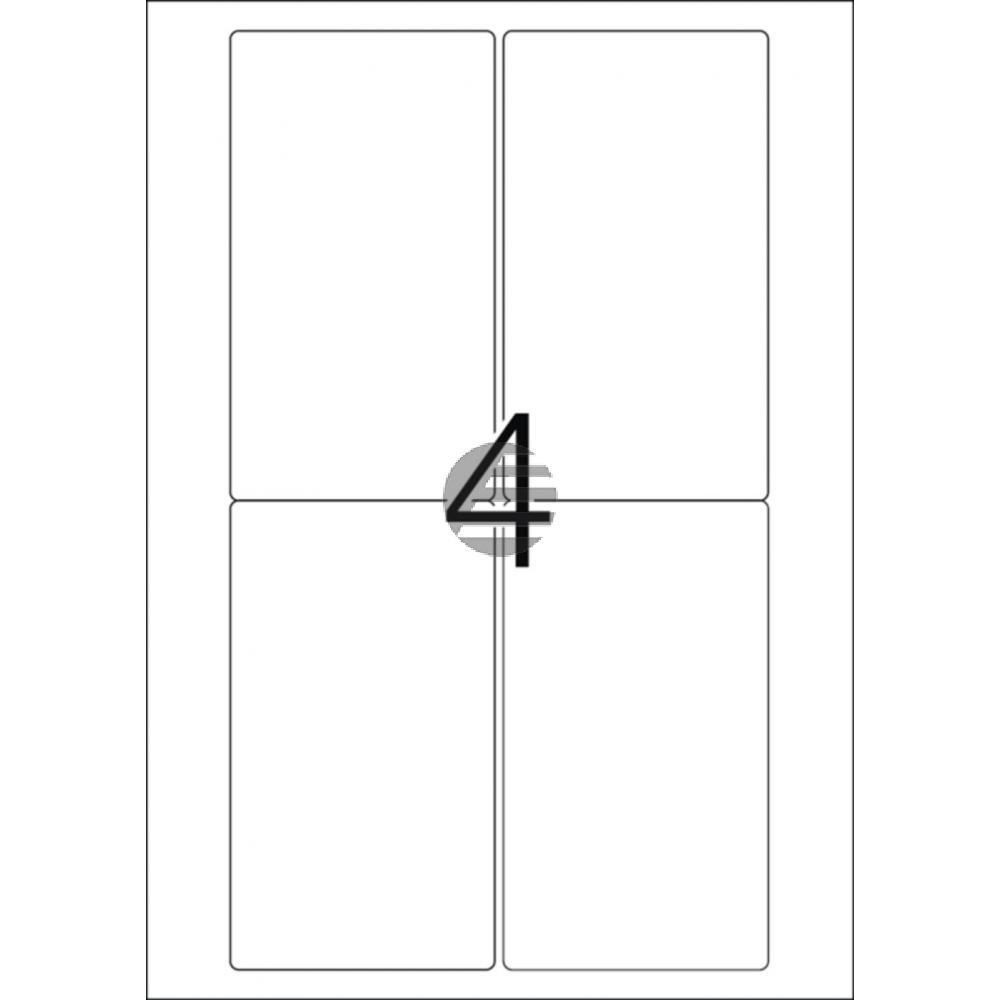 Herma Adressetiketten A4 weiß 78,7 x 139,7 mm Papier matt Inh.400 Premium Etiketten