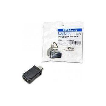 LogiLink Adapter Mini USB Buchse auf Micro USB Stecker