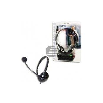 LogiLink Stereo Headset Kopfhörer mit Mikrofon Easy