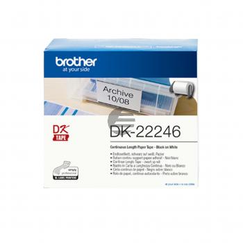Brother Endlos-Etikett schwarz/weiß (DK22246)