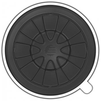 MEDIARANGE CD KLEMMSTERNE (100) SCHWARZ BOX160 selbstklebende R?ckseite