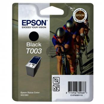 Epson Tintenpatrone schwarz (C13T00301110, T003)