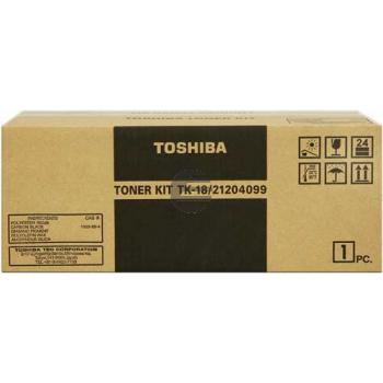 Toshiba Toner/Entwickler Kartusche schwarz (21204099, TK-18)
