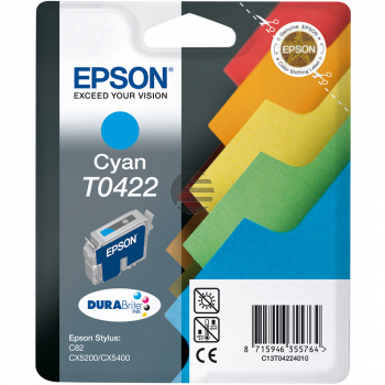 Epson Tintenpatrone cyan (C13T04224010, T0422)