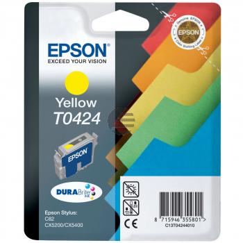 Epson Tintenpatrone gelb (C13T04244010, T0424)