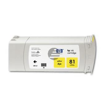 HP Tintenpatrone 3 x gelb (C5069A, 81)