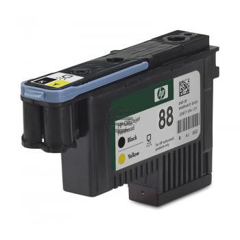 HP Tintendruckkopf schwarz/gelb (C9381A, 88)