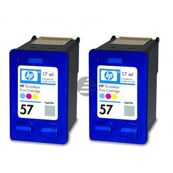 HP Tintendruckkopf 2x cyan/gelb/magenta HC (C9503AE, 2x 57)