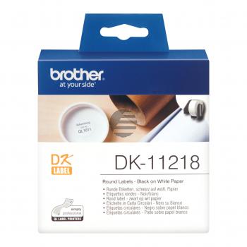 Brother Runde Etiketten weiß (DK11218)