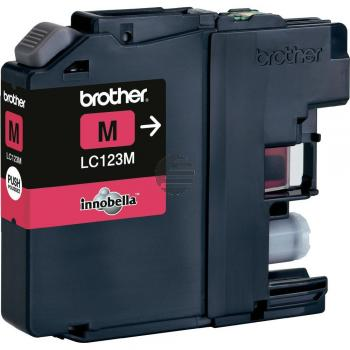 Brother Tintenpatrone magenta (LC-123M)