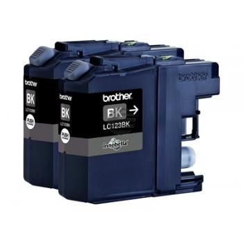 Brother Tintenpatrone 2 x schwarz 2-Pack (LC-123BKBP2DR)