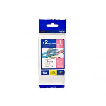 Brother Schriftbandkassette 2 x schwarz/weiß weiß/pink 3er Pack (TZE-32M3)