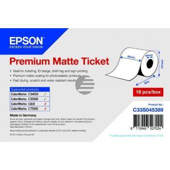 Epson Premium mattes Endlos-Ticket-Etikett weiß (C33S045389)