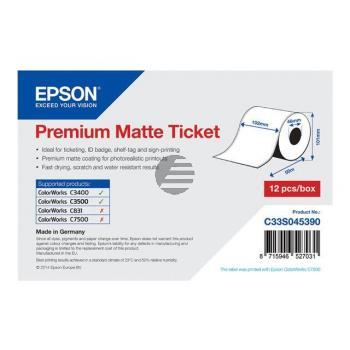 Epson Premium mattes Endlos-Ticket-Etikett weiß (C33S045390)