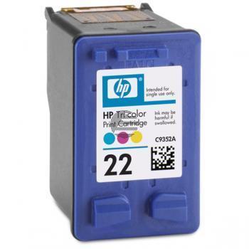 HP Tintendruckkopf cyan/gelb/magenta (C9352AE#UUS, 22)