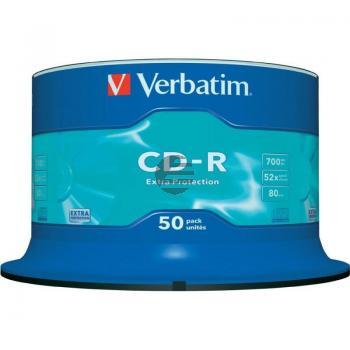 VERBATIM CDR80 700MB 52x (50) SP 43351 Spindel extra Schutz