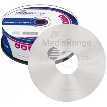 MEDIARANGE CDR80 700MB 52x (25) CB MR201 Cake Box
