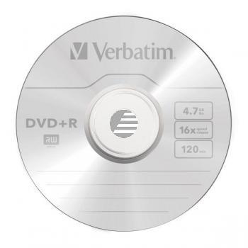 VERBATIM DVD+R 4.7GB 16x (25) SP 43500 Spindel matt silber