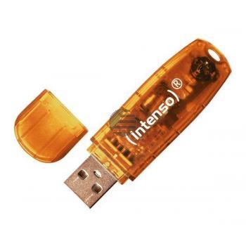 INTENSO USB STICK 2.0 64GB ORANGE 3502490 Rainbow Line