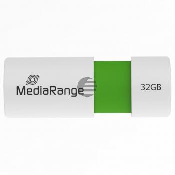 MEDIARANGE USB STICK 32GB GRUEN MR973 Schiebemechanismus