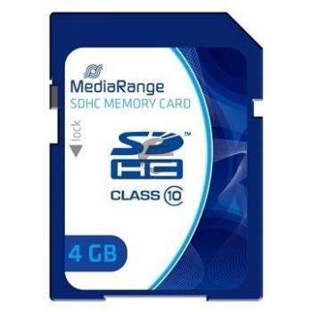 MEDIARANGE SDHC SPEICHERKARTE 4GB MR961 Klasse 10