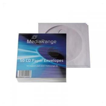 MEDIARANGE CD PAPIERHUELLEN (50) BOX65 mit Fenster