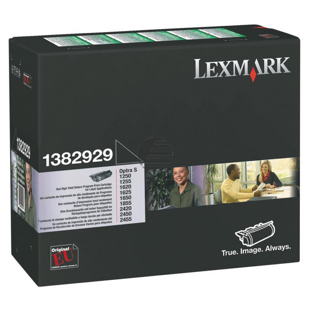 Lexmark Toner-Kartusche Prebate speziell für Etiketten schwarz (1382929)