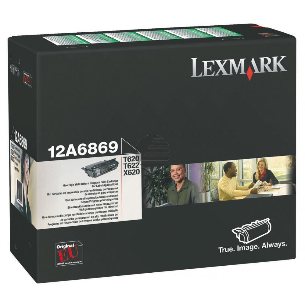 Lexmark Toner-Kartusche Prebate Etikettendruck schwarz (12A6869)
