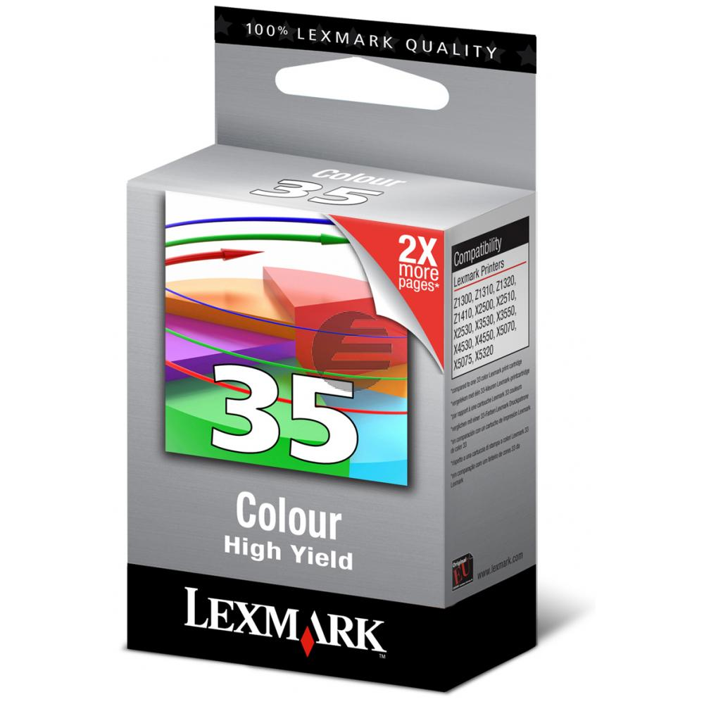 Lexmark Tintendruckkopf 3-farbig HC (18C0035E, 35)