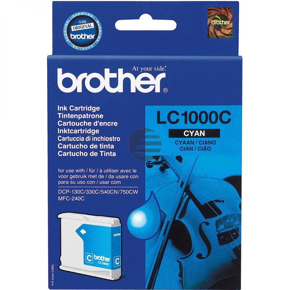 Brother Tintenpatrone cyan (LC-1000C)