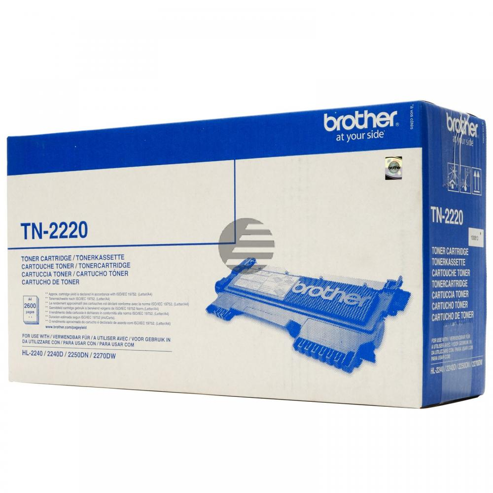 Brother Toner-Kit schwarz HC (TN-2220)