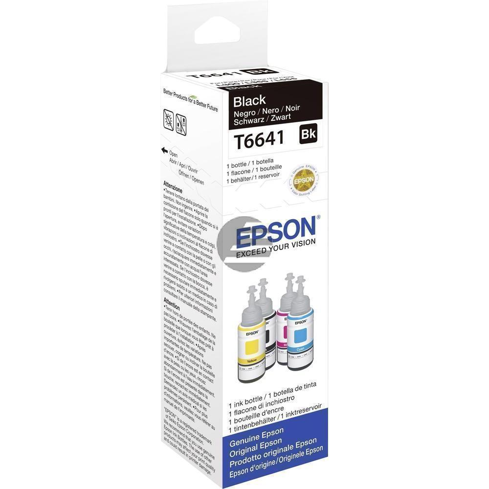 Epson Tintennachfüllfläschchen schwarz (C13T664140, T6641)