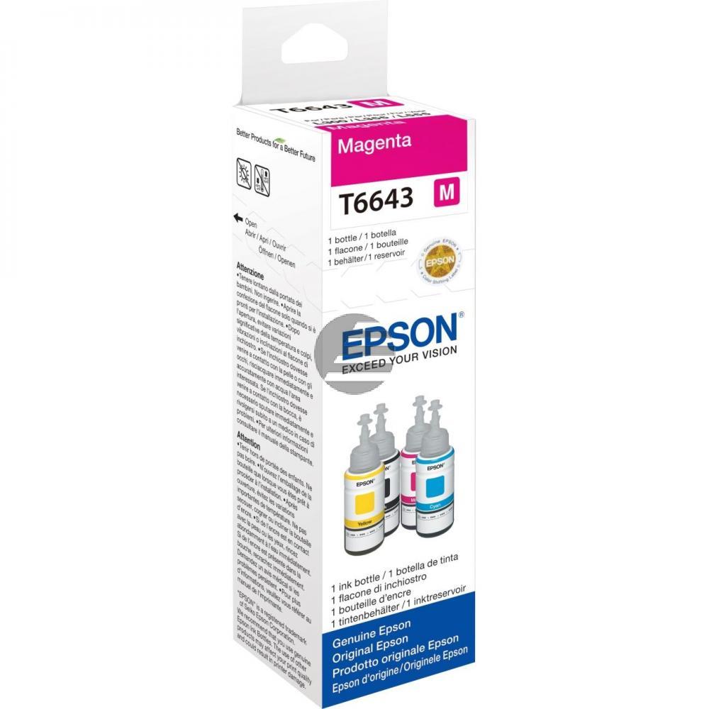 Epson Tintennachfüllfläschchen magenta (C13T664340, T6643)