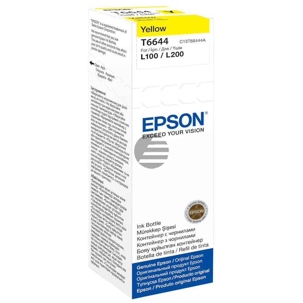 Epson Tintennachfüllfläschchen gelb (C13T664440, T6644)