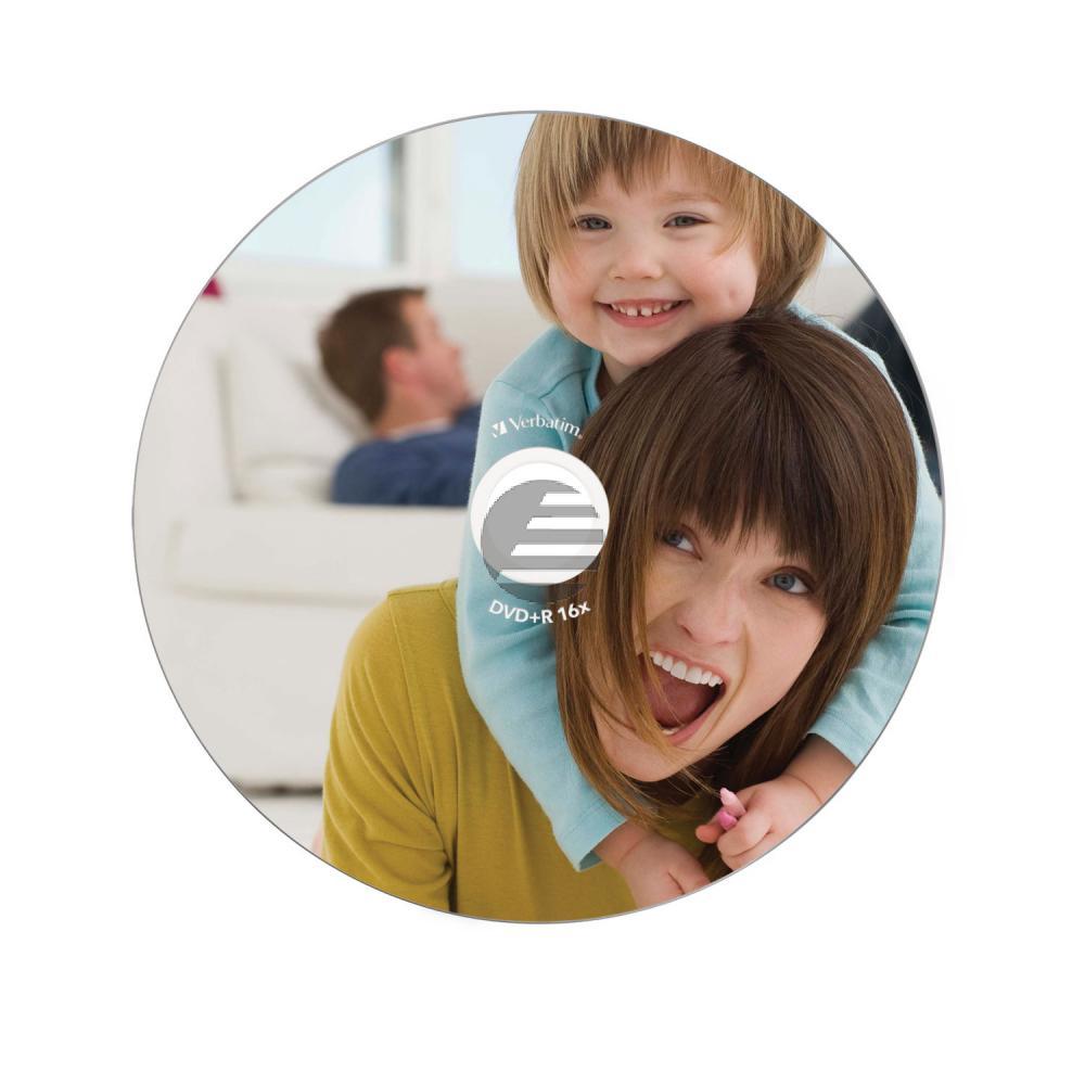 VERBATIM DVD+R 4.7GB 16x (10) JC 43508 breit foto bedruckbar ID